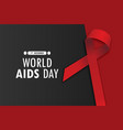 world aids day poster layout design vector image vector image