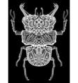 Zentangle Bug vector image vector image
