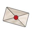 drawing email envelope letter message image vector image