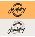 Set of bakery and bread logo vector image