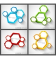 Set of background with hexagons vector image