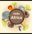 Wild African animal background vector image