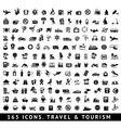165 icons Travel and Tourism vector image vector image