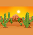 a hot desert background vector image vector image