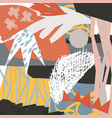 abstract floral elements paper collage tropical vector image vector image