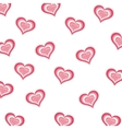 background of hearts isolated icon design vector image vector image