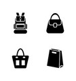 bags simple related icons vector image vector image