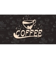 banner for coffee on the vector image vector image