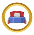 Bed icon cartoon style vector image vector image