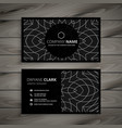 black professional business card design template vector image vector image