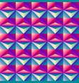 bright colorful geometric abstract rhombus 3d vector image vector image