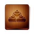 brown jewish sweet bakery icon isolated on white vector image vector image