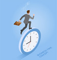 business run time isometric vector image vector image
