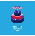 Cake with star and strip two flags Happy vector image vector image