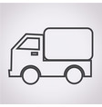 car truck icon vector image
