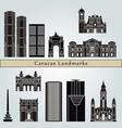 caracas v2 landmarks vector image vector image