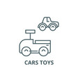cars toys line icon cars toys outline vector image vector image