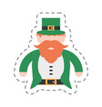 cartoon st patricks day leprechaun traditional vector image