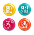 colorful sale badge isolated white background vector image vector image