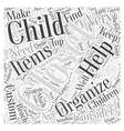 Custom Closet Organizers for Children Word Cloud vector image vector image