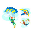dangerous activity extreme sport people vector image
