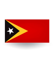 East Timor Flag vector image vector image