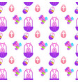 easter seamless pattern with painted eggs and vector image vector image