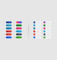 elegant social media lower third banners template vector image
