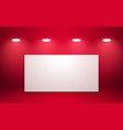 empty red studio room interior clean workshop for vector image vector image