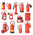 fire extinguisher fire-extinguisher for vector image vector image