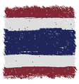 Flag of Thailand handmade square shape vector image