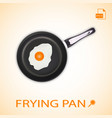 fried egg on a frying pan isolated on a background vector image vector image
