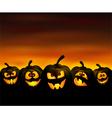 Funny pumpkins vector image vector image