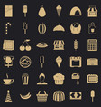 good dessert icons set simple style vector image vector image