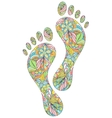 human footprints on white background vector image