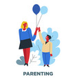 human need parenting and child upbringing mother vector image