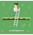 improving corporate ladder professional growth vector image