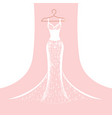 lace dress on a hanger vector image vector image