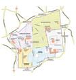 map old city jerusalem vector image vector image