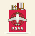 modern flat design web icon on airline tickets vector image vector image