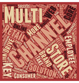 Multi channel retail keys to success text vector image vector image
