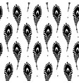 peacock feathers seamless pattern for your design vector image vector image