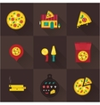 pizza icons vector image