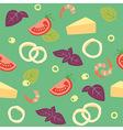 Pizza Seafood Pizza ai frutti di mare Ingredients vector image vector image