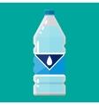 plastic bottle pure water vector image vector image