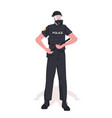 policeman in full tactical gear riot police vector image vector image