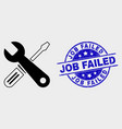 repair tools icon and grunge job failed vector image vector image