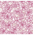 sakura seamless pattern in hand-drawn style vector image vector image
