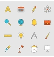 School education flat line icons vector image vector image
