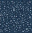 seamless pattern with education back to vector image vector image